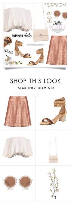 """""""Perfect summer"""" by anchilly23 ❤ liked on Polyvore featuring Markus Lupfer, Aquazzura, House of Holland, Pier 1 Imports and Topshop"""
