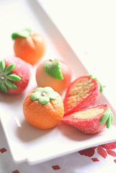 Marzipan candy, made from almond paste and sugar. A big yum.