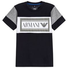 e192bd151080b Armani Junior - Boys Blue Logo T-Shirt
