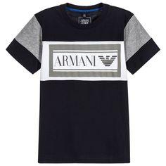 6635e626635c6 Armani Junior - Boys Blue Logo T-Shirt