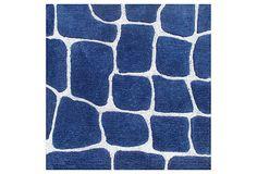 2' x 2' Scales  Rug, Blue/Ivory on OneKingsLane.com