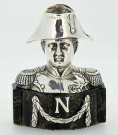 Napoleon - Antique French silver bust - 19th Century - London Import 1912, Berthold Hermann Muller.