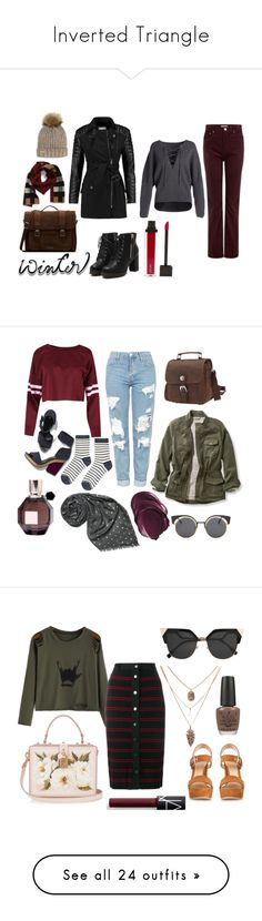Inverted Triangle by metalroses on Polyvore featuring polyvore fashion bodytype invertedtriangle style Vince AG Adriano Goldschmied Burberry Nine West Dr. Martens Jouer W118 by Walter Baker clothing Topshop Pierre Hardy Viktor & Rolf L.L.Bean Printed Village Vagabond Traveler Accessorize StreetStyle sweaterweather fallfashion plus size clothing Adam Selman Gianvito Rossi Dolce&Gabbana Fendi OPI NARS Cosmetics 2016 Keepsake the Label Moschino Yves Saint Laurent Chanel Lands' End patternmixing…