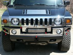 H2 2003-2009 HUMMER (7 pieces: FRONT BUMPER COVER - (includes Z grill)) HV43009