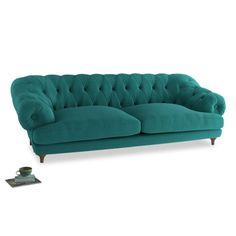 Extra Large Bagsie Sofa in Ocean Vintage Linen