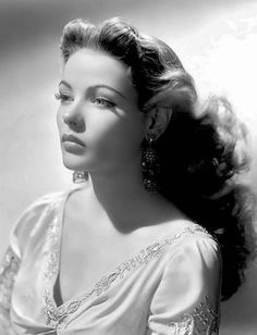 Actress on stage and screen, Gene Tierney, born Gene Eliza Tierney, (American, 1920–1991) was known for her high cheekbones and sheer beauty, c.1950s. #famous_people #vintagephoto