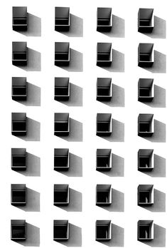 Movement (The repitition of these shapes, placed in an ordered fashion create a sense of movement within the image)