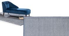 Arlo, tapis tissé à plat 170 x 240 cm, bleu et blanc