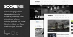 Theme Description:Scoreme – Rating Pre Theme    Scoreme – Rating & Responsive Magazine/Blog Theme is clean minimalistic and elegant wordpress theme. Scoreme – Rating fully layout responsive and rating system.The theme have more advanced features and functions on based solid backend framework, This theme possible to uses for magazine or personal blog websites.