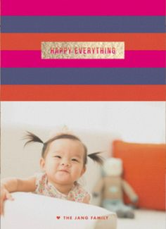 Celebrate your little one's first Christmas with a special Holiday greeting card from Minted.