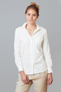 White Buttonup Front Greenwich shirt from begood $64