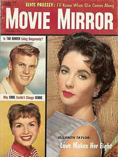 Dec.1957 Sunday Night Movie, Tab Hunter, Debbie Reynolds, Movie Magazine, Movie Covers, Elizabeth Taylor, Famous Women, Vintage Movies, Classic Beauty