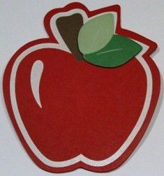 Apple Bow Holder- ($7.00)
