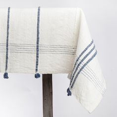 Reminiscent Of Classic Parisian Textiles, This Rectangular Cotton Tablecloth  With Its Colorful Ribbon Accents Is