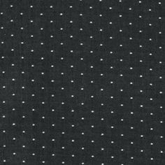 Robert Kaufman - Cotton Chambray Dots - Black : Sew Modern
