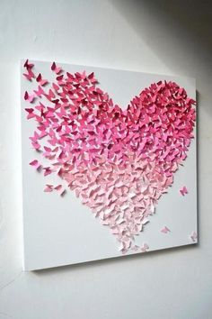 Here you are currently watching the amazing result of your Amazing DIY Art & Wall Decor Ideas. I love this Amazing DIY Art & DIY Wall Decor Ideas. Paint Sample Cards, Paint Samples, Sample Paper, Fun Crafts, Diy And Crafts, Arts And Crafts, Simple Crafts, Art Mural Papillon, Mur Diy