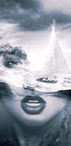 Storm sea by T.Amrein                                              #DoubleExposure, @TaniaAmrein