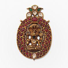 # A Gemset Vishnu Pendant, #Jewels from South India | Saffronart.com