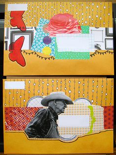 outgoing mail art by hahawtf, via Flickr
