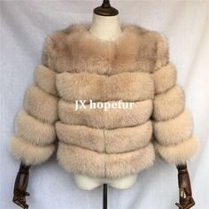 Luxurious 100% Genuine Thick Fox Fur Jacket Fox Fur Jacket, Fur Coat, Luxury, Leather, Jackets, Style, Fashion, Down Jackets, Swag