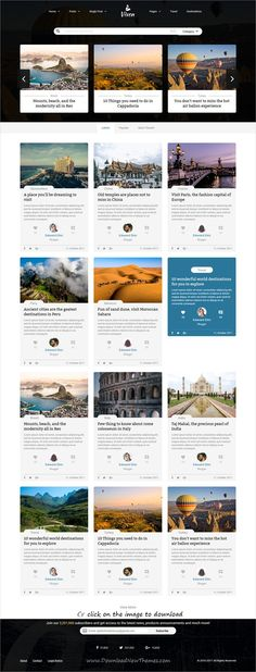 Vixen is clean and modern design responsive #HTML template for creative #blog and #magazine website with 4+ different homepage layouts to download click on image.