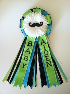 Mustache Baby Shower Corsage by littlecreationz on Etsy, $29.00 @April Cochran-Smith Snyder check this out!! how cute and easy!