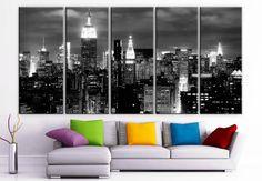 XLARGE 30  x 70  5 panneaux Art toile imprimer belle par BoxColors