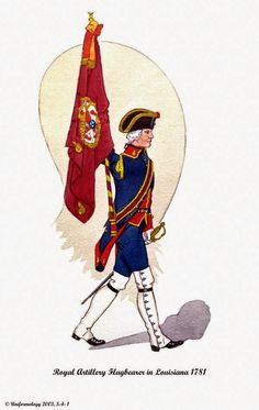Spanish; Royal Artillery, Standard Bearer, Louisiana 1781