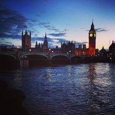 #bigben #westminster #Thames #London #Uk #England #bridge #evening #night #sky #cloudy