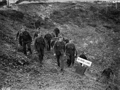 The British Expeditionary Force (bef) in France 1939-1940 The 'Phoney' War, October 1939 - May 1940: British soldiers visit the site of the former 'No Man's Land' of the First World War battlefield at Vimy.