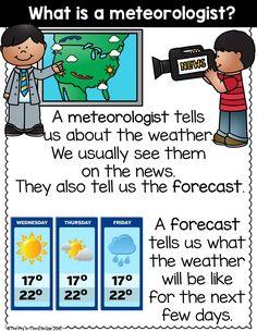 Weather Activities Preschool, Weather Kindergarten, Teaching Weather, Kindergarten Anchor Charts, Weather Science, Kindergarten Lessons, Science Activities, Weather For Kids, Weather Unit