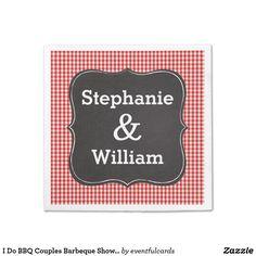 I Do BBQ Couples Barbeque Shower Paper Napkins