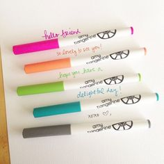 american crafts slick writers amy tangerine colors more