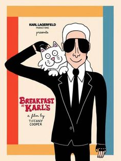 The movie posters are arriving in the Berlin stores! Karl Lagerfeld, Gallery Weekend, Claudia Schiffer, Tiffany, Berlin, Movie Posters, Coco Chanel, Contents, Illustration