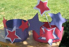RVing Kids Independence Day Hat and Star Wand Project:  Here is a great craft project to keep your RVing Kids busy getting ready for the 4th of July Celebration.