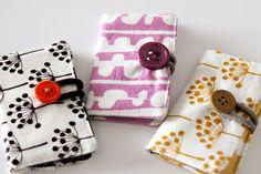 DIY fabric business card holders