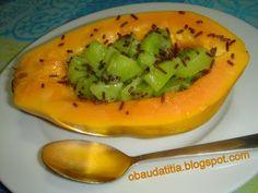 O Baú da Titia: Papaia com kiwi