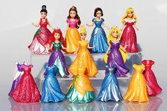14pcs/set Princess Play Set Snow White Ariel Belle Rapunzel Aurora PVC Action Figures Toys Dolls Dress Clothes Changeable  http://playertronics.com/product/14pcsset-princess-play-set-snow-white-ariel-belle-rapunzel-aurora-pvc-action-figures-toys-dolls-dress-clothes-changeable/
