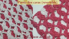 Video tutorial paso a paso para tejer un hermoso punto reversible a crochet. Fácil, rápido y bien explicado - Step by step video tutorial to crochet a beautiful reversible stitch. Easy, fast and well explained. Beautiful Crochet, Crochet Necklace, Make It Yourself, Stitch, Blanket, Model, Videos, Easy, Crochet Stitches