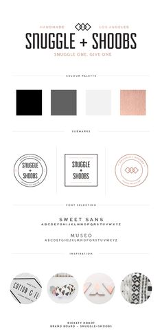 Branding Board, Brand Design, Logo Design, snuggle + shoobs — Rickety Robot
