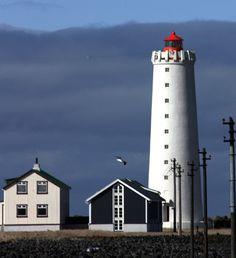 Gro'tta Lighthouse  Reykjavik, Western Iceland