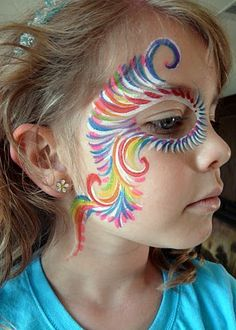 colorful facepainting