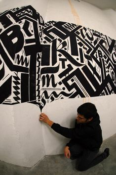 graffiti calligraphy   ... illusive forms and letters (typography-calligraphy) in strict shapes