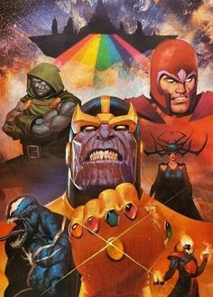 Marvel Villains by Ariel Olivetti Comic Book Villains, Marvel Villains, Comic Book Characters, Marvel Characters, Comic Character, Comic Books Art, Comic Art, Top Villains, Marvel Dc