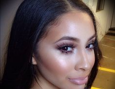 Lashes and glowy makeup