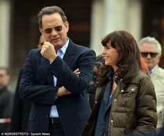 Tom Hanks continued filming scenes for the third film in the Da Vinci Code franchise Inferno in Venice on Tuesday, alongside his new co-star Felicity Jones. Tom Hanks, Code Movie, Felicity Jones, Dan Brown, Best Actor, American Actors, Movies To Watch, Toms, Novels