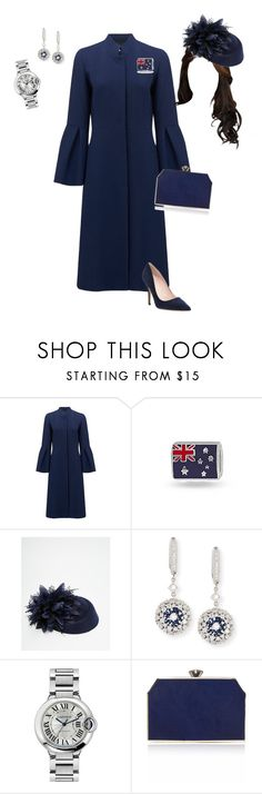"""""""Australia Day"""" by lilymae1997 ❤ liked on Polyvore featuring Símo, Bling Jewelry, Johnny Loves Rosie, Mariani, Cartier, Jenny Packham and Kate Spade"""