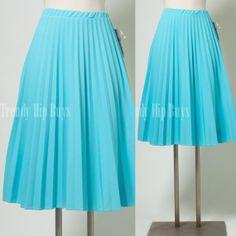 Vintage 70s skirt Turquoise Aline midi skirt by TrendyHipBuysVintage, $20.00