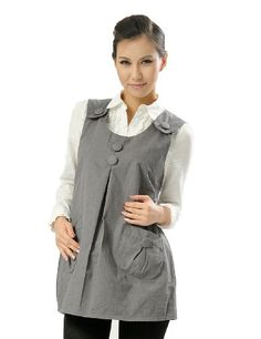 OurSure Fashionable Maternity Dress Top with Radiation Protection Shielding, One Size, Grey, Clothes Code:8903185