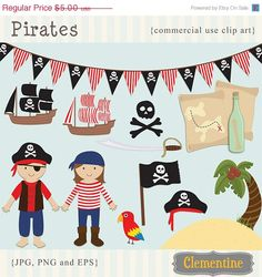 40 OFF SALE Pirate clip art images pirate di ClementineDigitals